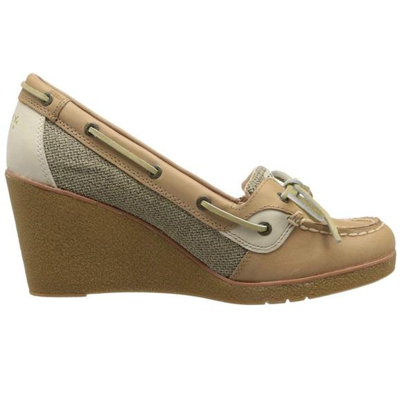 fe8c91d665 Sperry Shoes | Topsider Womens Goldfish Wedge Boat Shoe | Poshmark